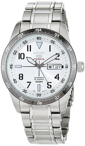 Seiko Reloj Analógico Automático para Hombre con Correa de Acero Inoxidable - SRP517K1: Amazon.es: Relojes