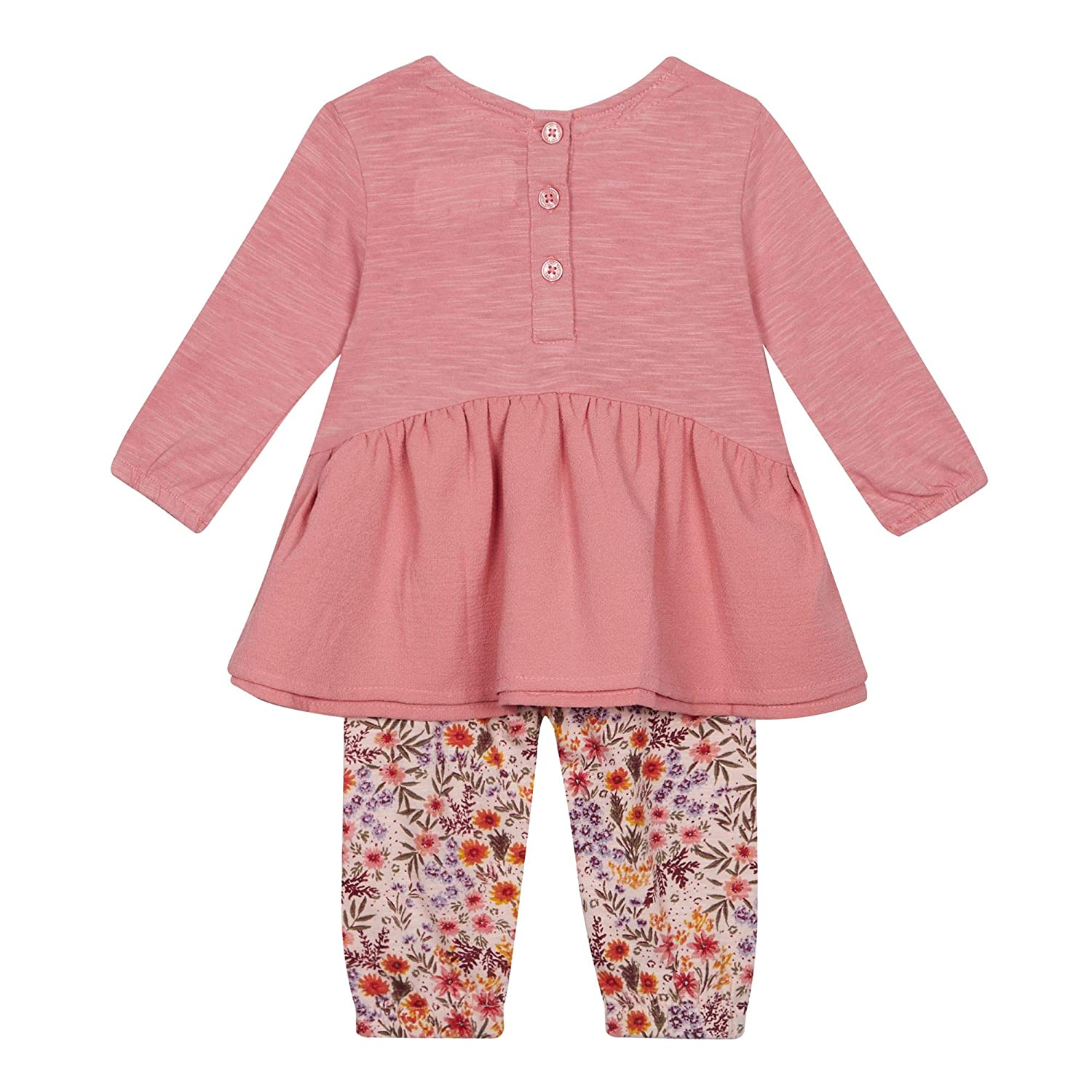 8352a30f6 Mantaray Kids Baby Girls  Dark Pink Floral Embroidered Top and ...