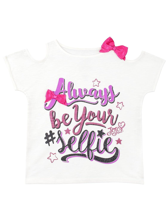 77452964e32e7 JoJo Siwa Girls Selfie T-Shirt White  Amazon.co.uk  Clothing