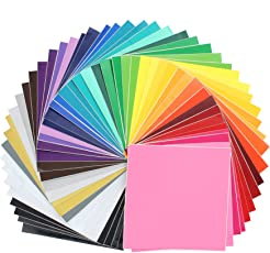 "Oracal Assorted 631 and 651 Vinyl - 48 Pack of Top Colors - 12"" x 12"" Sheets"
