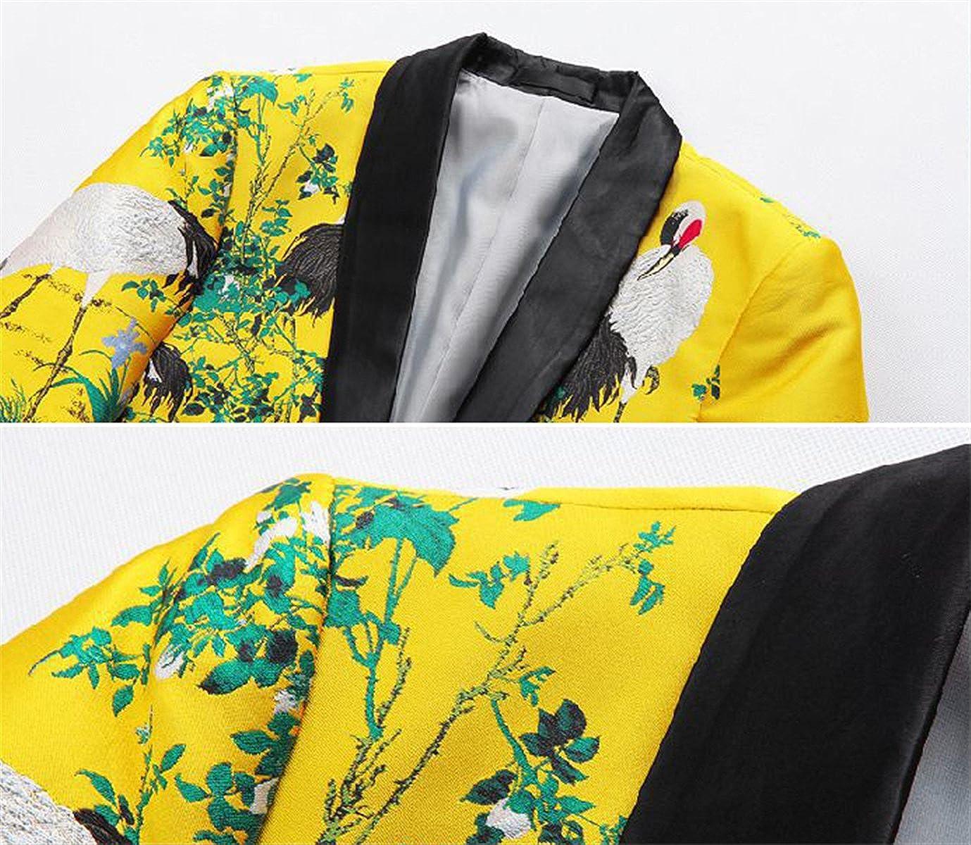 QZH.DUAO Mens Blazer Jacket