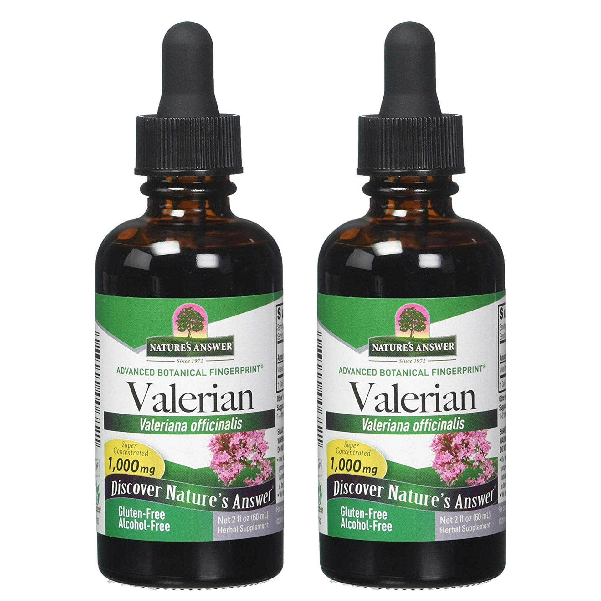 Nature's Answer Valerian Root Alcohol Free - 2 Fl oz - Pack of 2