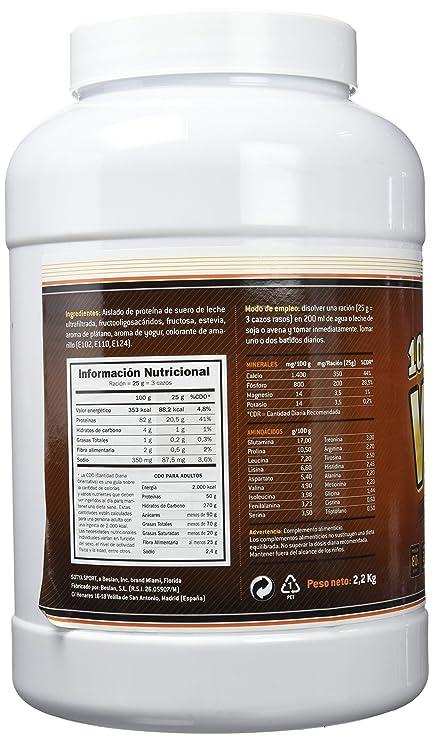 SOTYA Proteína Whey 100% Plátano con Yogurt 2.2 kg: Amazon.es: Salud y cuidado personal