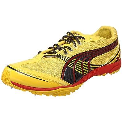 Puma Men's Complete Haraka XCS Running Shoe,Dandelion/Dark Shadow/High Risk  Red