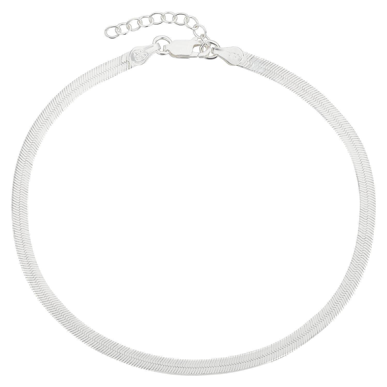Bracelet de cheville Chaine de cheville 3,8 mm, 22-25 cm Argent Sterling 925//1000 mod/èle 30