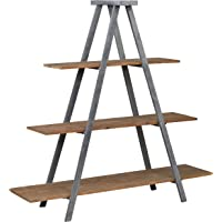 Stone & Beam Bryson A-Frame Bookcase Shelf Stand Wood and Iron