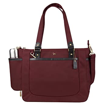 42b1c537f80d6 Amazon.com | Travelon Anti-Theft Ltd Tote Bag, Wine | Travel Totes