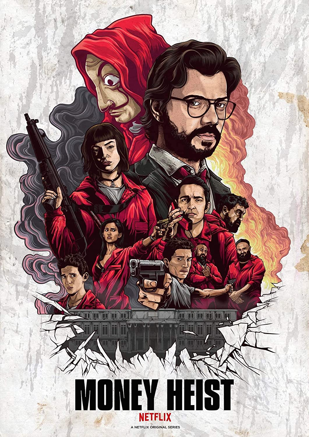 Money Heist Season 1-2-3-4 1080p NF WEB-DL HIN – TAM – TEL – ENG DD + 5.1 x264 | Telly | 25 GB | 18 GB | 17 GB | 17 GB |
