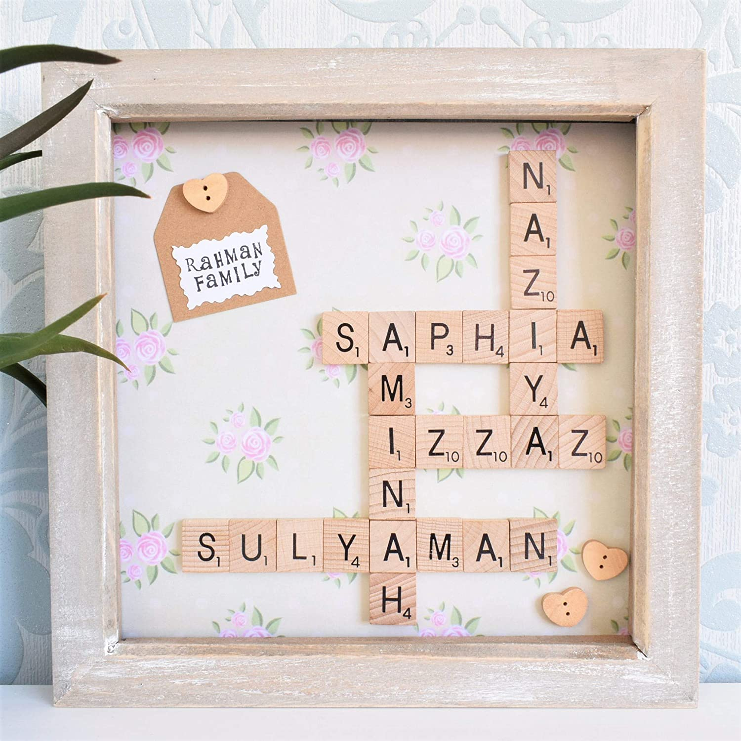 Scrabble Family Frame Up To 20 Names Gift Christmas All Occasions