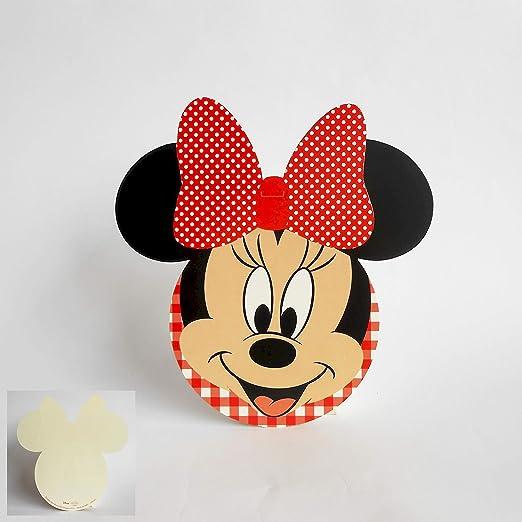 Scotton Tarjeta De Invitación O Tablò Silueta Minnie Disney
