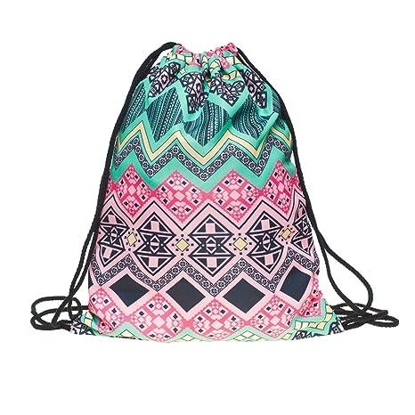 Loomiloo Bar Bolsa Con Cordón Motivos Aztecas Color Rosa Amazon