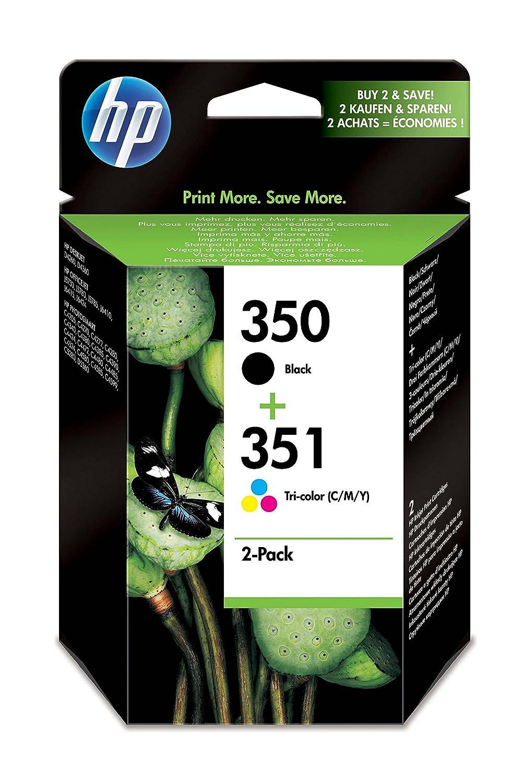 HP 350-351 - Pack de ahorro de 2 cartuchos de tinta Original HP 350 Negro, HP 351 Tricolor para HP OfficeJet y HP PhotoSmart SD412EE