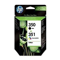 HP 350/HP 351 Pack de 2 Cartouches d'encre Noire/Trois Couleurs Authentiques (SD412EE)