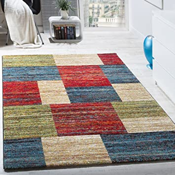 Paco Home Teppiche Modern Wohnzimmer Teppich Spezial Melierung Karo ...