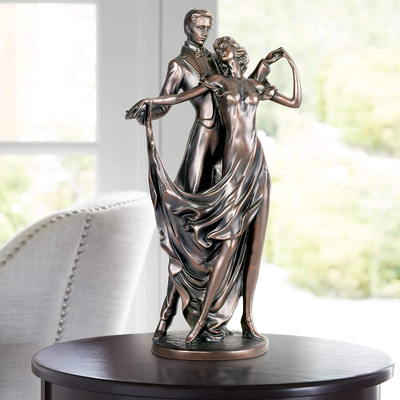 "Universal Lighting and Decor Dancing Lovers 13 1/2"" High Accent Sculpture - Kensington Hill"