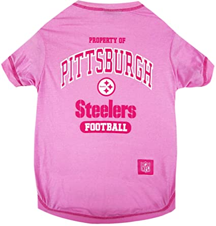 Amazon.com   Pets First Pittsburgh Steelers Pink T-Shirt 42d1b7626