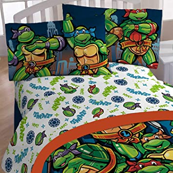 Jay Franco & Sons Nickelodeon Teenage Mutant Ninja Turtles Cityscape Sheet Set (Twin)