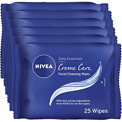 Nivea Creme Care Limpieza Facial Wipes – Paquete de 6, Total 150