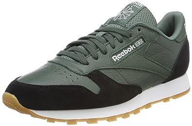 Reebok Classic Nylon HS, Sneakers Basses Homme, Noir (Black/White-Gum), 46 EU