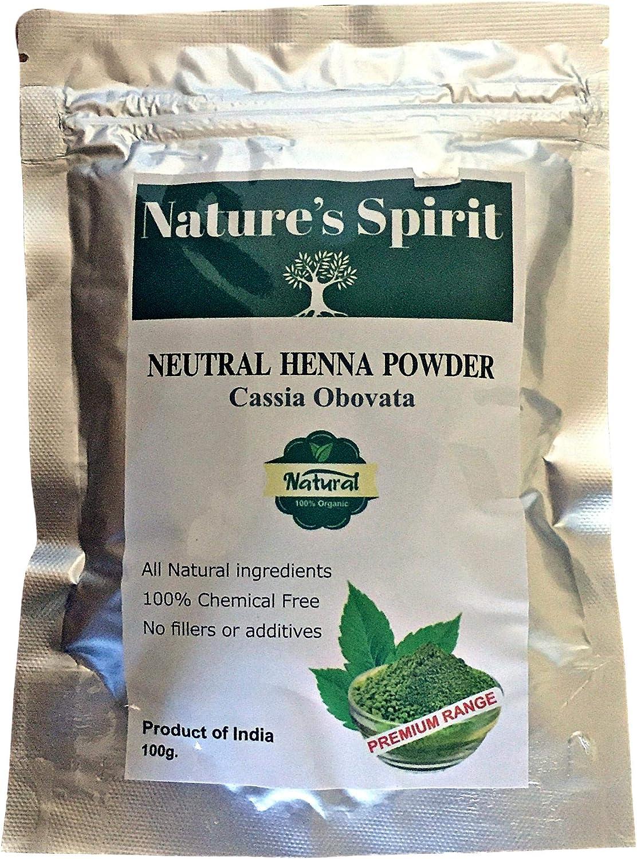 Tinte para el cabello en polvo neutro de Henna Cassia Ovovata, 100 g, grado de exportación libre de químicos