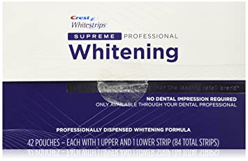 Com Crest Whitestrips Supreme Professional Whitening 84 Strips Beauty