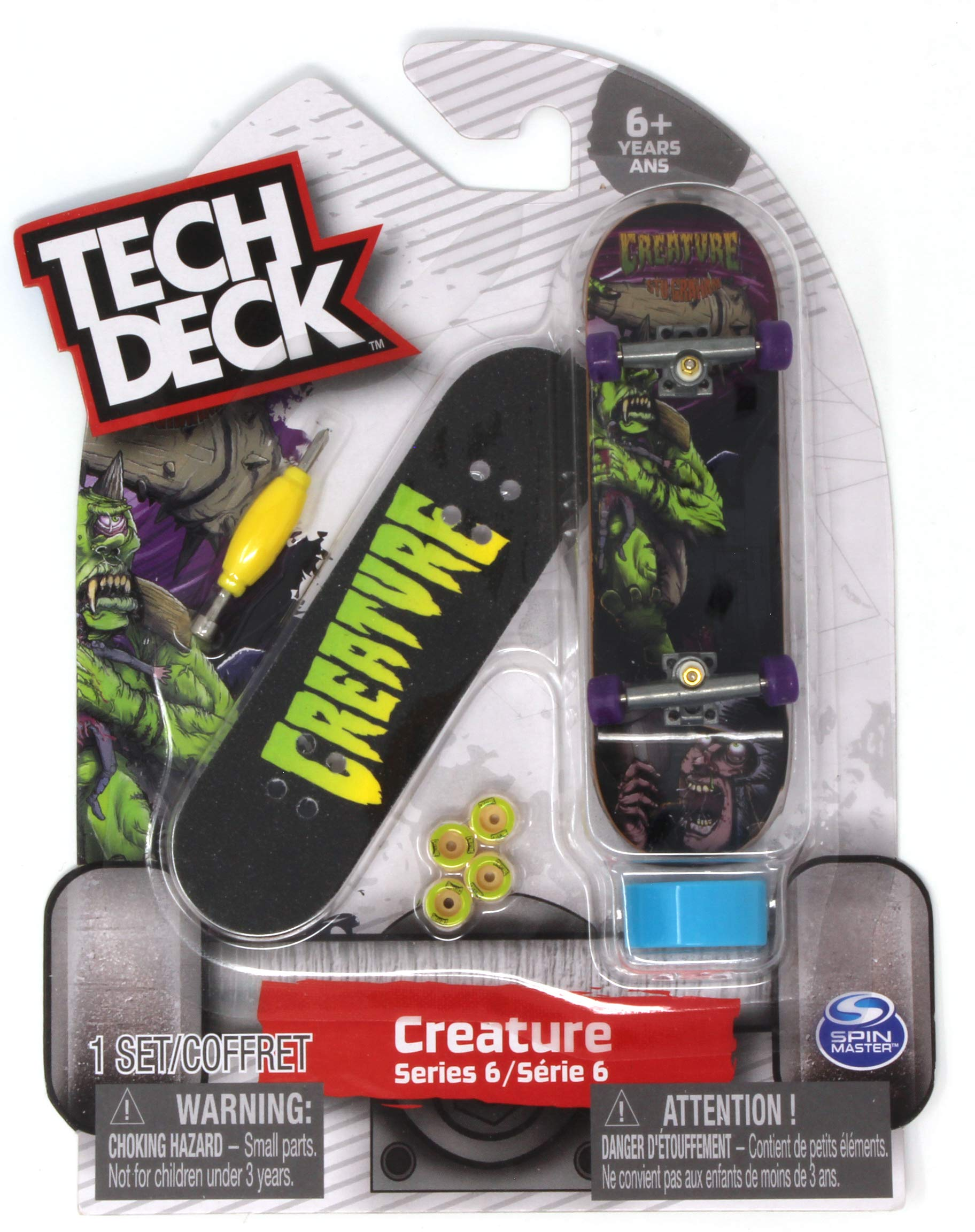 Tech Deck Creature Skateboards Rare Series 6 STU Graham Ogre Fingerboard - 20087785