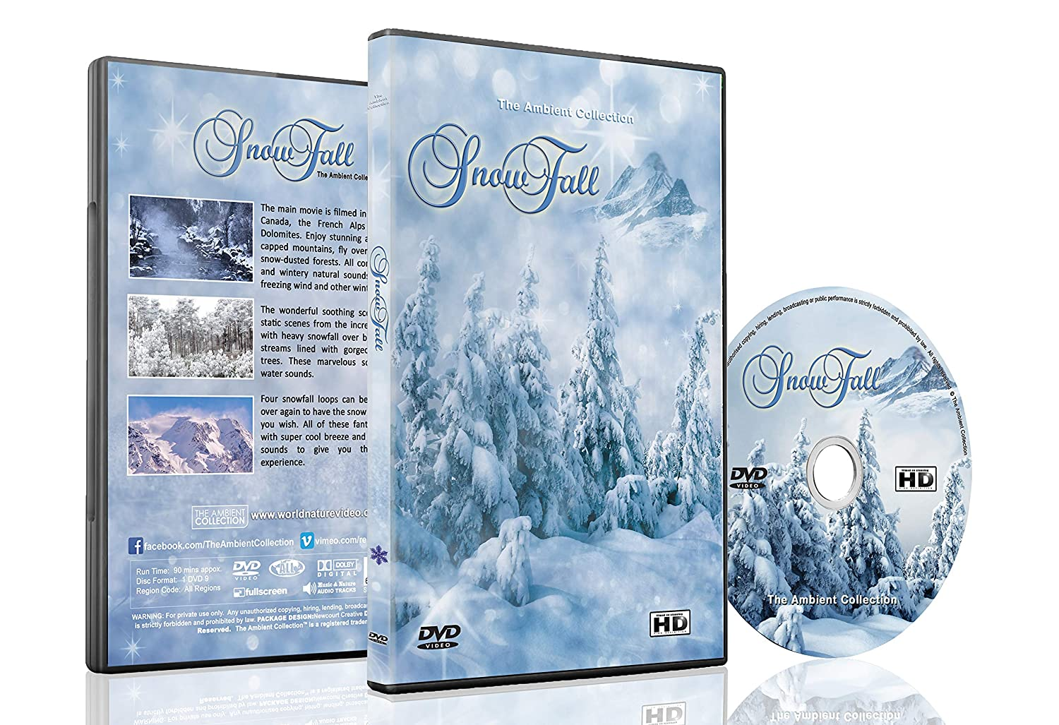 Christmas and Winter DVD - Snowfall - Winter Scenery of