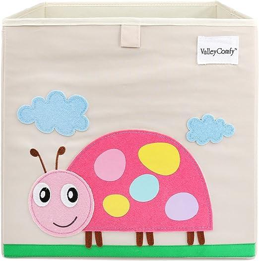 Valleycomfy - Caja de almacenaje de juguetes para niños, cubo ...