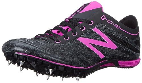 New Balance Women's SD400V3 Track Spike, Black/Purple, 6.5 B US