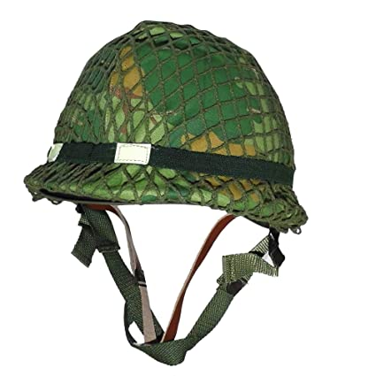 a901e2eb Amazon.com : HOME DAILY SALE Reproduction 1959 Dated WW2 WWII Vietnam War  Era US M1 Combat Helmet with Camouflage Mitchell Cover Reversible : Sports  & ...