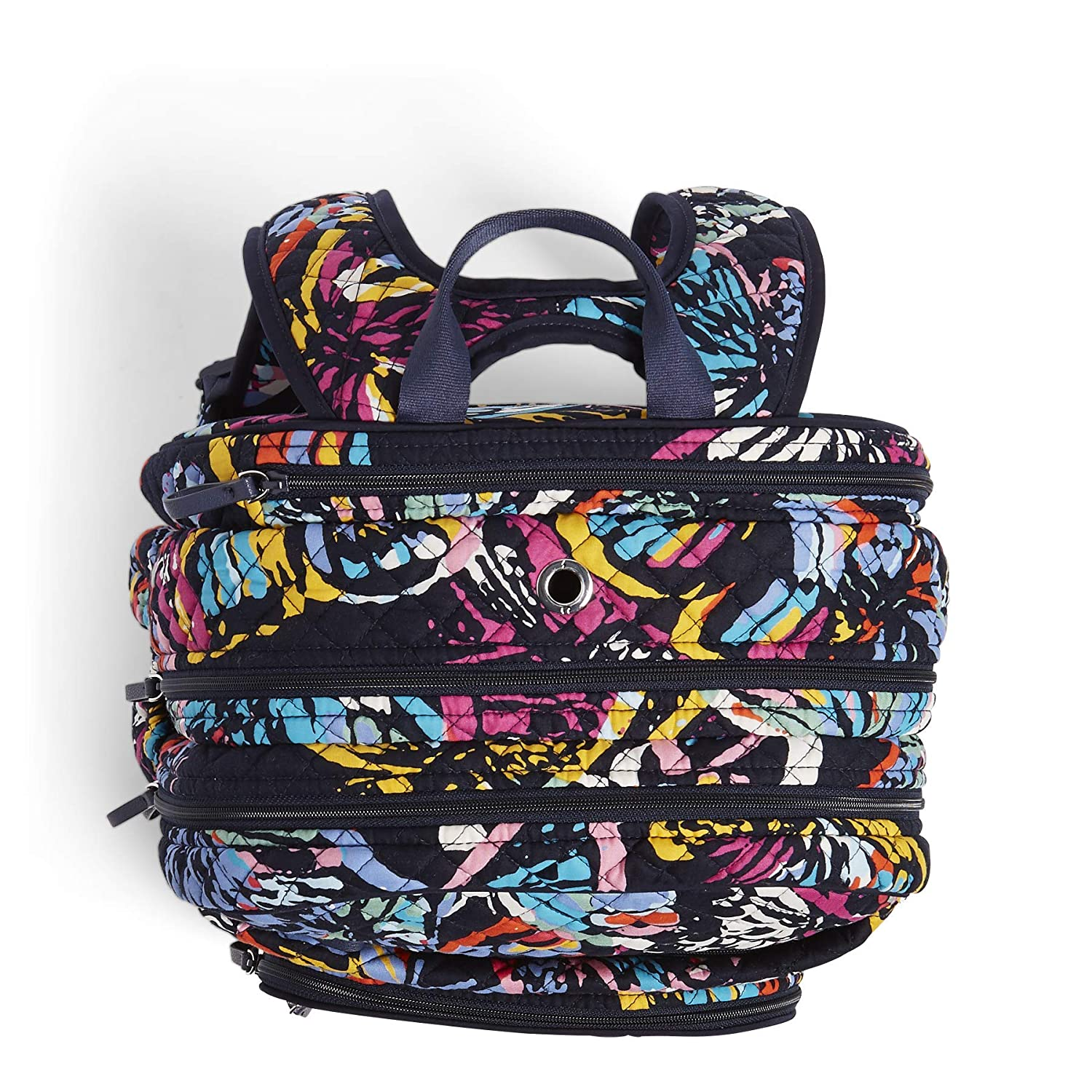 4950556e8 Amazon.com: Vera Bradley Iconic XL Campus Backpack, Signature Cotton,  butterfly flutter: Clothing