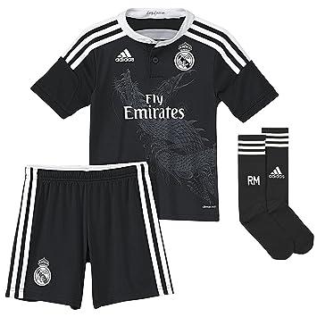 Equipación Infantil Real Madrid Champions 3ª 2014-15: Amazon.es: Deportes y aire libre