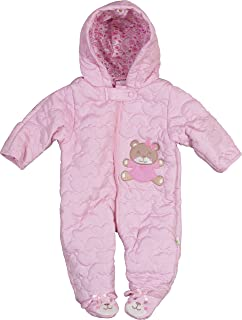 6ff624a37 Amazon.com  Leveret Quilted Baby Snowsuit (3 Months