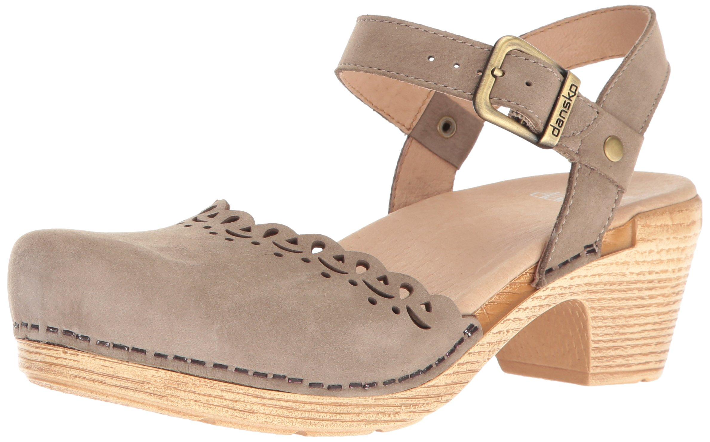 Dansko Women's Marta Flat Sandal, Taupe Milled Nubuck, 39 EU/8.5-9 M US