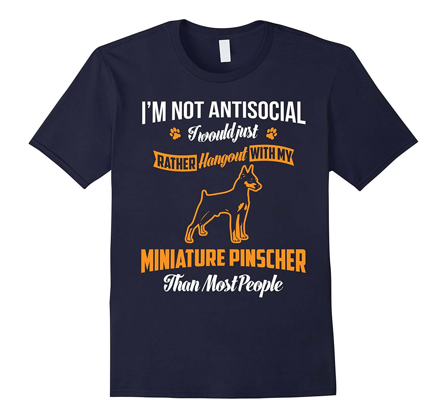 Hang Out With My Miniature Pinscher T-Shirt-Art
