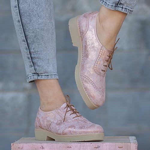 7fb0f329e85cc Amazon.com: Pink Handmade Leather Women's Oxford Shoes: Handmade