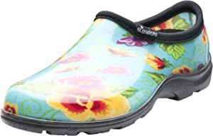 Sloggers Women's WaterproofRain and Garden Shoe with Comfort Insole, Pansy Turquoise, Size 9, Style 5114TP09