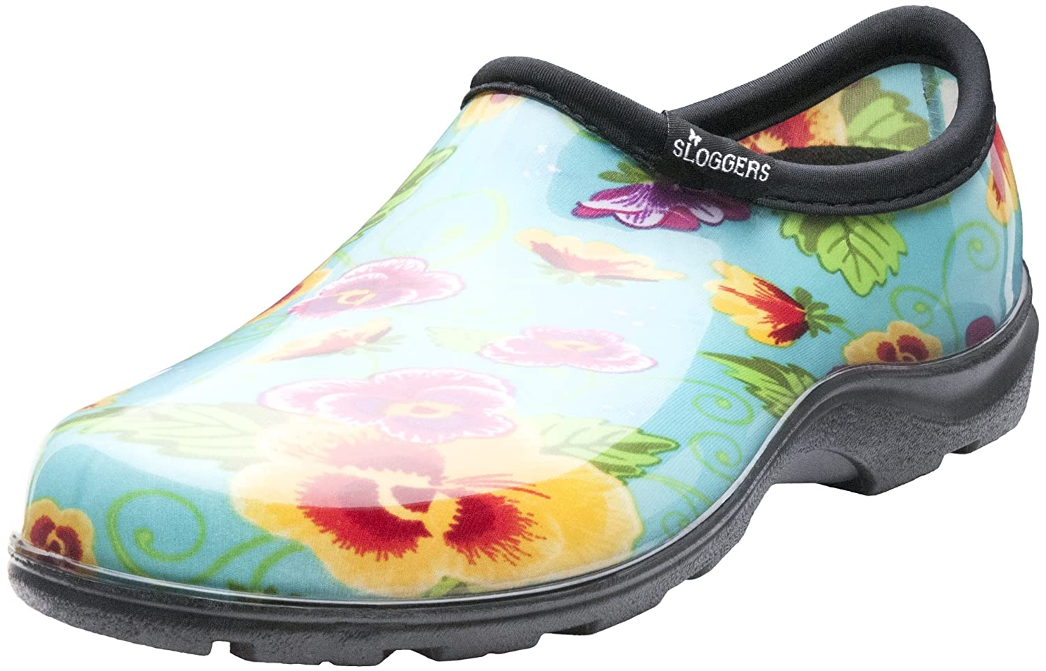 Sloggers Women's WaterproofRain and Garden Shoe with Comfort Insole, Pansy Turquoise, Size 10, Style 5114TP10