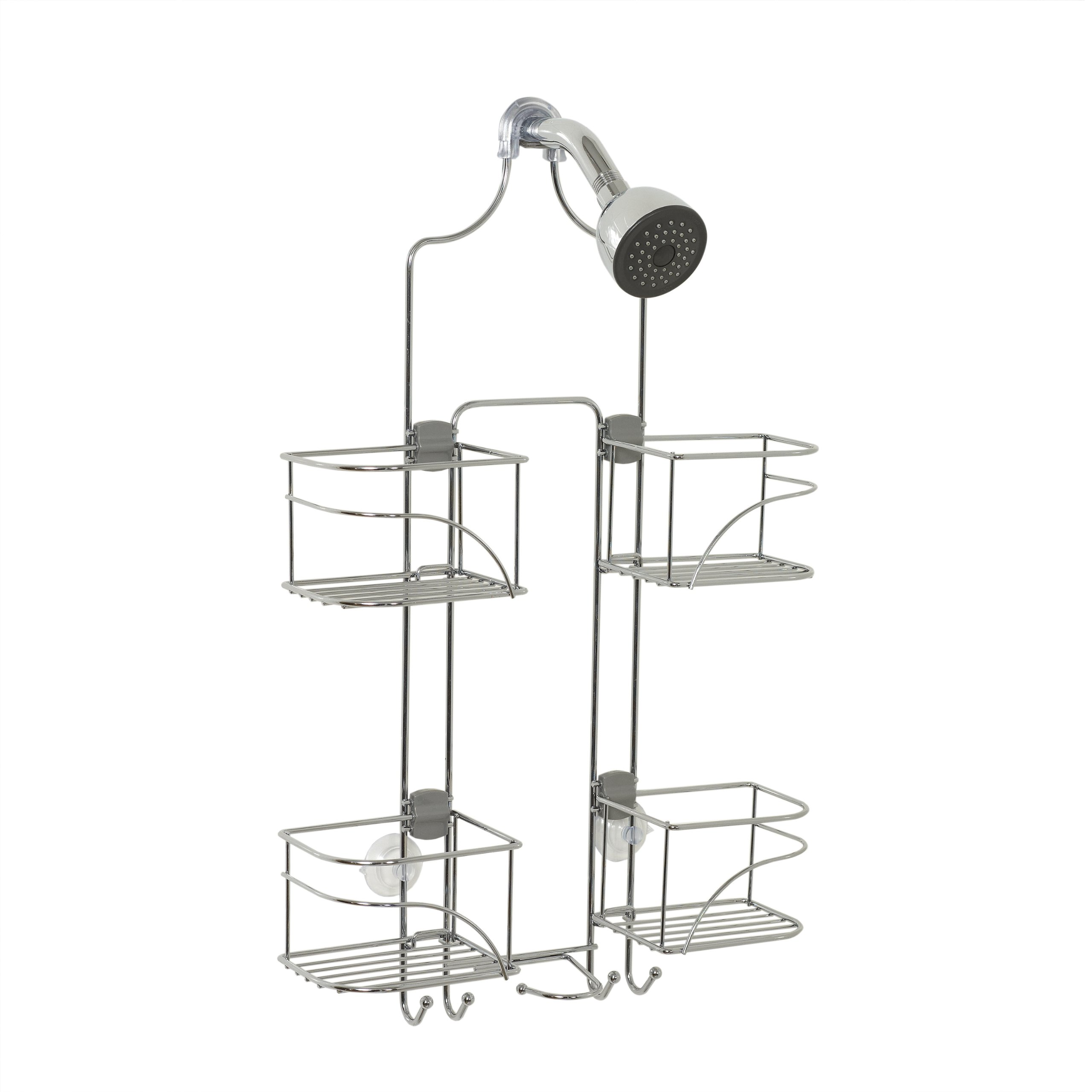 Zenna Home 7446SS, Expandable Over-the-Showerhead Caddy, Chrome by Zenna Home