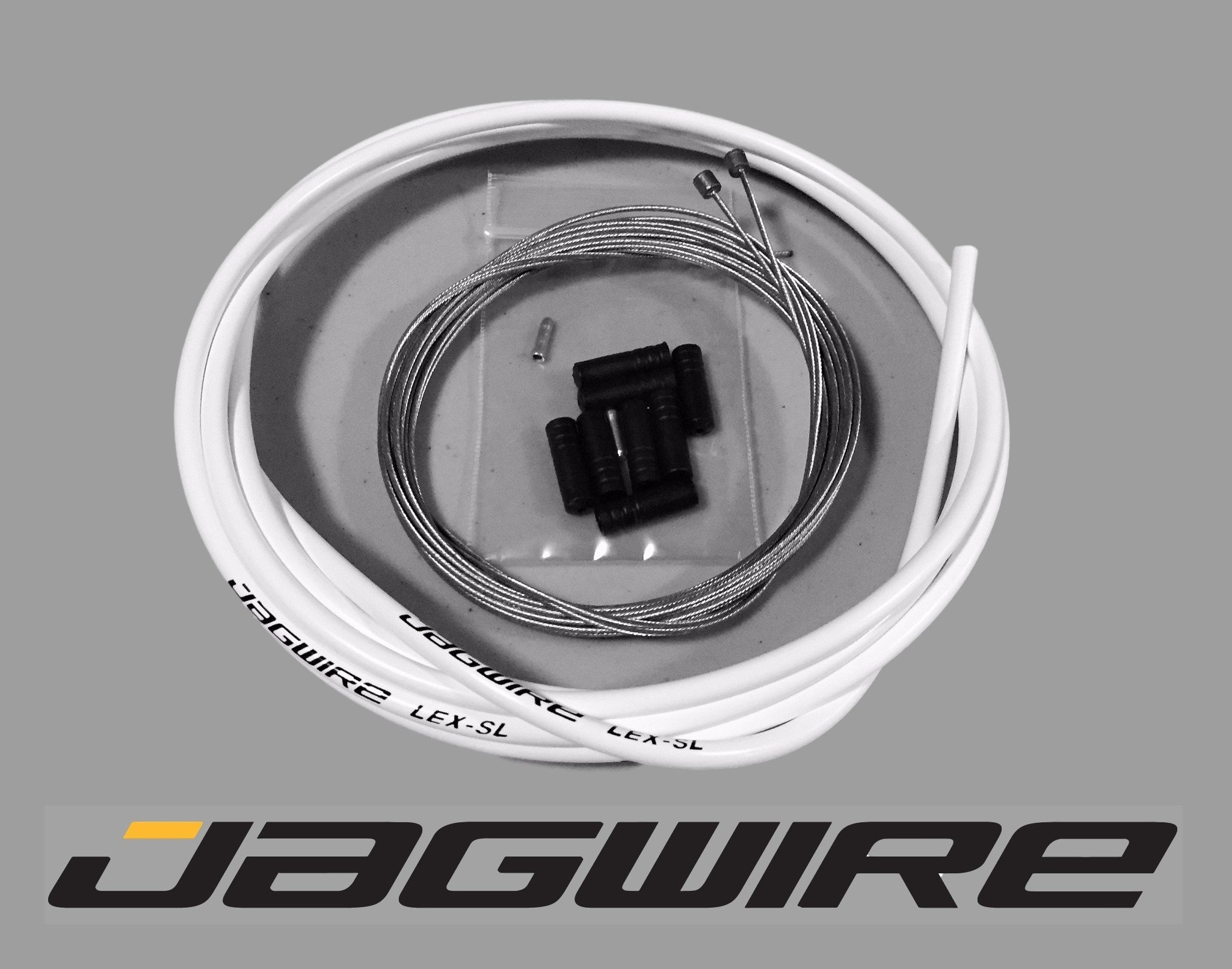 JAGWIRE MOUNTAIN SHOP KIT - Shifter / Derailleur Cable & Housing Kit - WHITE - SRAM/Shimano MTB