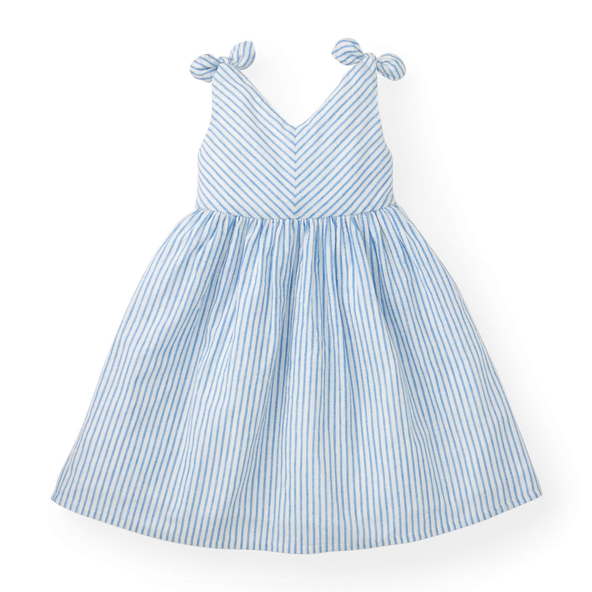 Hope & Henry Girls White Bow Shoulder Dress