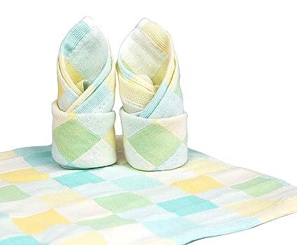 JJMG Toalla para bebé de algodón de secado rápido, 3 piezas, de colores a