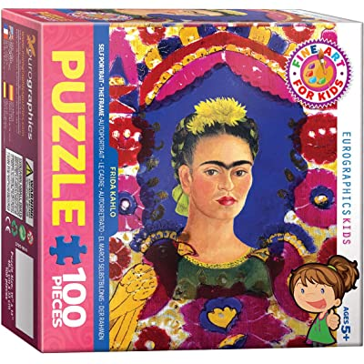 EuroGraphics Self Portrait The Frame - Frida Kahlo 100-Piece Puzzle: Toys & Games