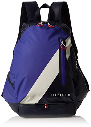 Tommy Hilfiger Block Story Backpack, Sacs à dos homme, (Tommy Navy), 18x45x38 cm (B x H T)