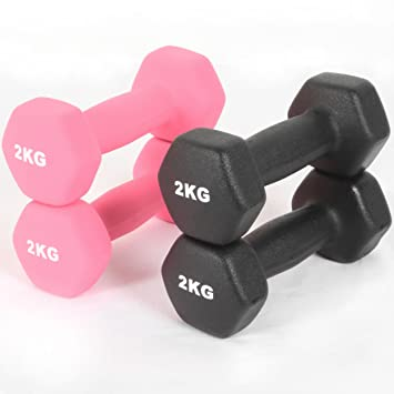 bfa09b566a7 Neoprene Iron Coated Dumbbells Aerobic Strength Hand Weights Gym Home Fitness  Workout (Pink