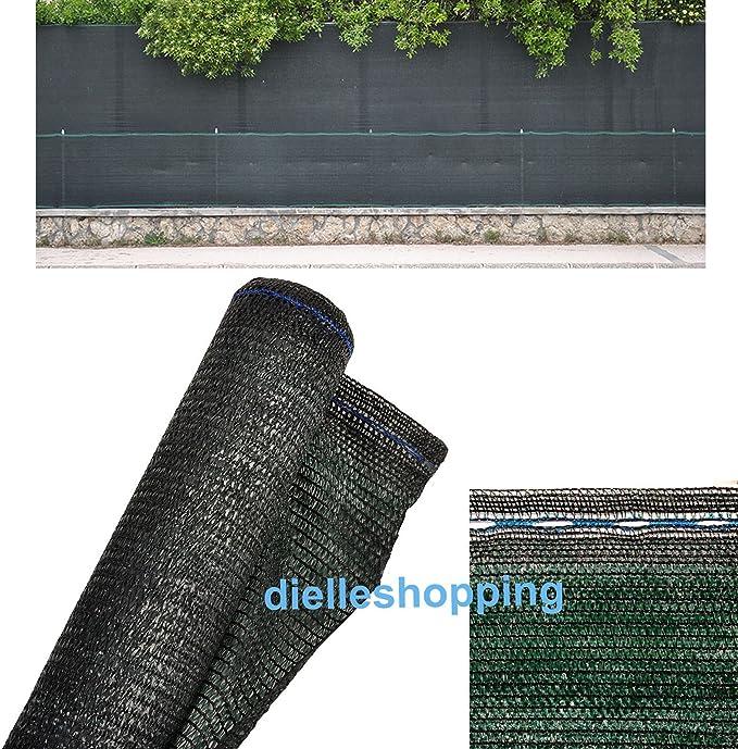 Malla de sombreo/ocultación para jardín, 90% de opacidad, 1,5 x 15 metros, color verde oscuro: Amazon.es: Jardín