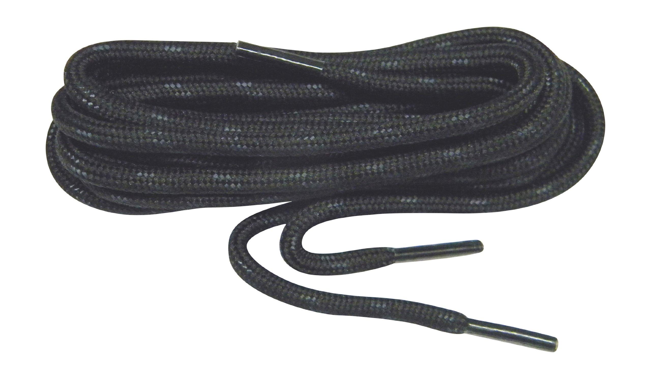 GREATLACES 72 Inch Black w/Black Kevlar proTOUGH(TM) Reinforced Heavy Duty Boot Laces Shoelaces (2 Pair Pack)