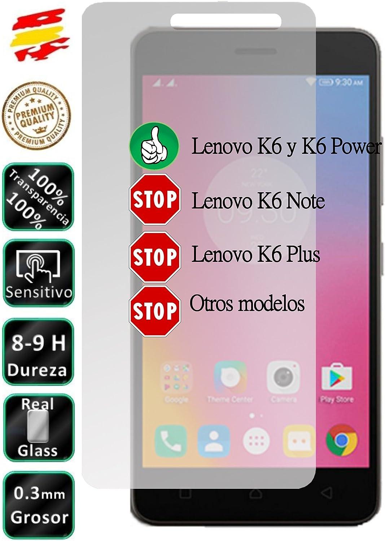Movilrey Protector para Lenovo K6 y K6 Power Cristal Templado de Pantalla Vidrio 9H para movil: Amazon.es: Electrónica