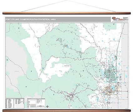 Amazon Com Marketmaps Fort Collins Co Metro Area Wall Map 2018