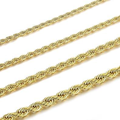 Amazon.com: Jstyle - Collar de cadena trenzada de acero ...